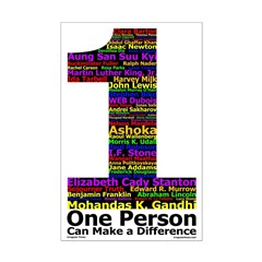 One Person Can (11x17 Poster Print)