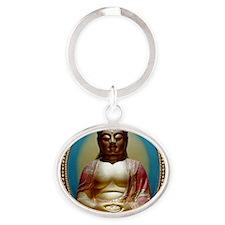 Buddha Oval Keychain