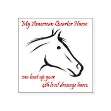 "My American Quarter Horseca Square Sticker 3"" x 3"""