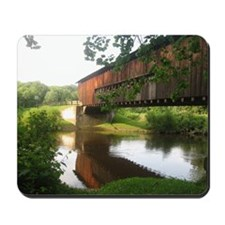 Covered Bridge and stream Mousepad