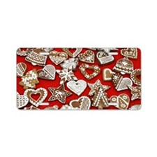 Gingerbread Christmas Aluminum License Plate