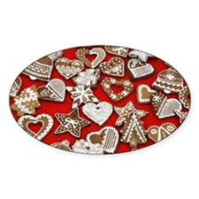 Gingerbread Christmas Decal