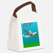 Vintage Style Poster Lockheed Con Canvas Lunch Bag
