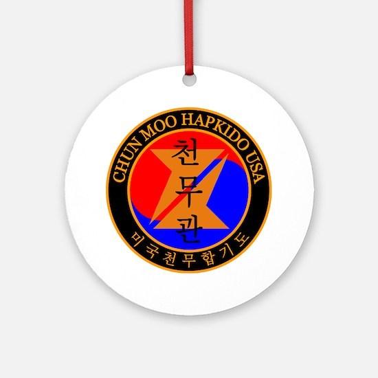 Chun Moo Hapkido USA Logo Round Ornament