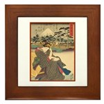 Japanese print Framed Tile
