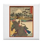 Japanese print Tile Coaster