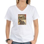 Japanese print Women's V-Neck T-Shirt