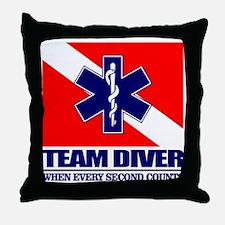 ERT Team Diver Throw Pillow