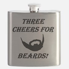 Three Cheers For Beards! Flask