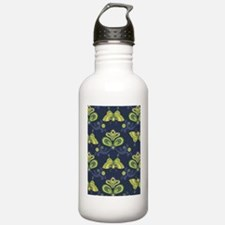 ButterflyAsian_Navy_La Water Bottle