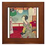 Japanese illustration  Framed Tile