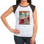 Japanese illustration  Women's Cap Sleeve T-Shirt