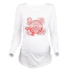Supernatural Red sig Long Sleeve Maternity T-Shirt