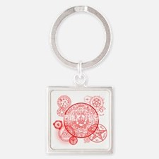 Supernatural Red signs Square Keychain