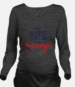 Prince George is Her Long Sleeve Maternity T-Shirt