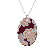 FlowerRetro_Brown_Large Necklace