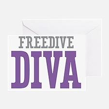 Freedive DIVA Greeting Card