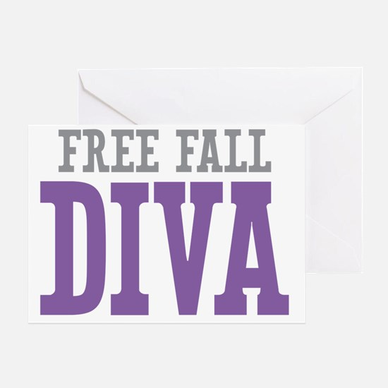Free Fall DIVA Greeting Card