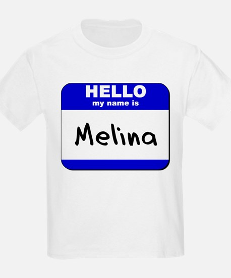 hello my name is melina T-Shirt