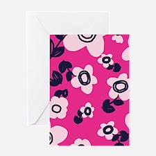 MariFlower_Pink1_Large Greeting Card