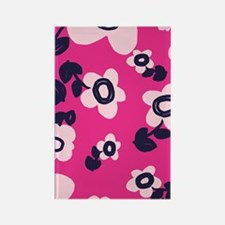 MariFlower_Pink1_Large Rectangle Magnet