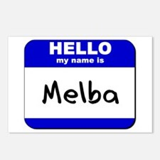 hello my name is melba  Postcards (Package of 8)