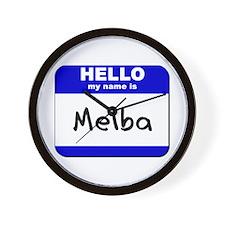 hello my name is melba  Wall Clock