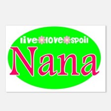 Nana...Live Love Spoil Postcards (Package of 8)