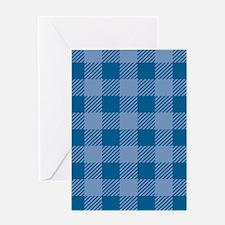 Plaid_Blue1_Large Greeting Card