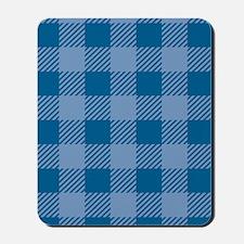 Plaid_Blue1_Large Mousepad