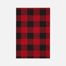 Plaid_Red1_Large Rectangle Magnet