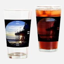 clock 2h2jtymp santa monica pier Drinking Glass