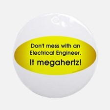 Electrical Engineer Oval Ornament (Round)