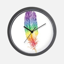 Family Feather Wall Clock