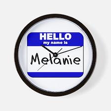 hello my name is melanie  Wall Clock