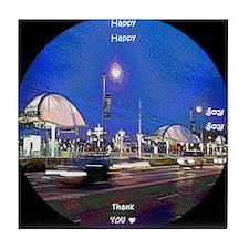 clock 2h2jtymp little tokyo Tile Coaster