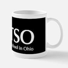 MTSO reverse logo on black Mug