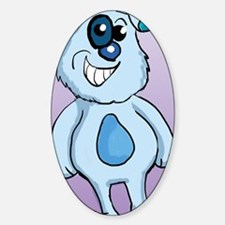 Blue DogThrow Blanket Sticker (Oval)
