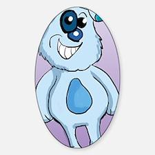Blue Dog Twin Duvet Sticker (Oval)