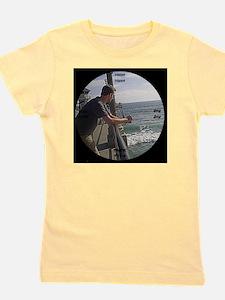 clock 2h2jtymp man on pier Girl's Tee