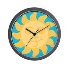 Happy Sun Wall Clock