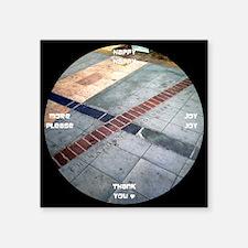 "clock 2h2jtymp chinatown bo Square Sticker 3"" x 3"""