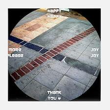 clock 2h2jtymp chinatown boundary Tile Coaster