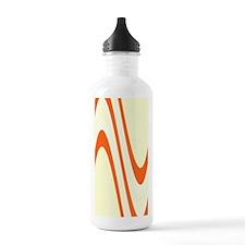 Chic Wavy Yellow Rust  Water Bottle
