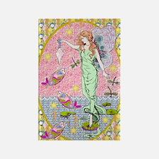 Sea Fairy Maiden Rectangle Magnet