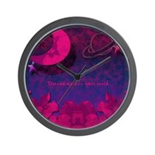 Moonflower Wall Clock