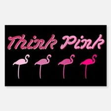 Think Pink Rectangle Decal