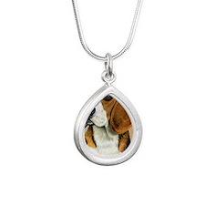 Beagle Jewel 2 Silver Teardrop Necklace