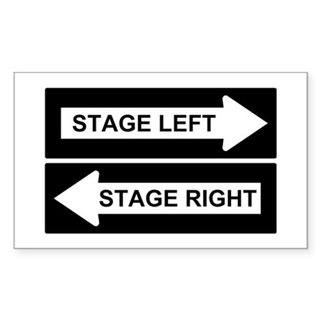 Stage Left Sticker (Rectangle)