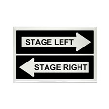 Stage Left Rectangle Magnet